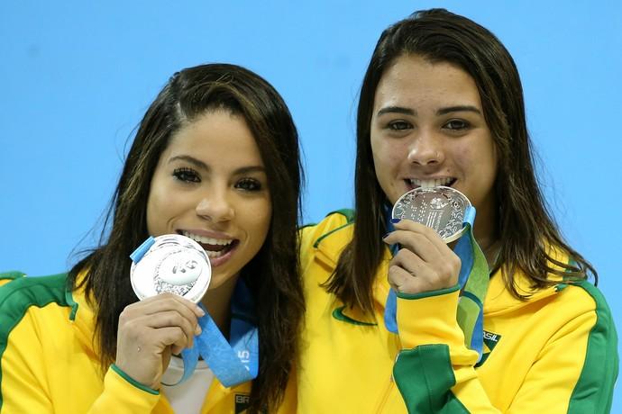 Ingrid Oliveira e Giovanna Pedroso conquistaram a medalha de prata no Pan de Guadalajara (Foto: Satiro Sodré / CBDA)