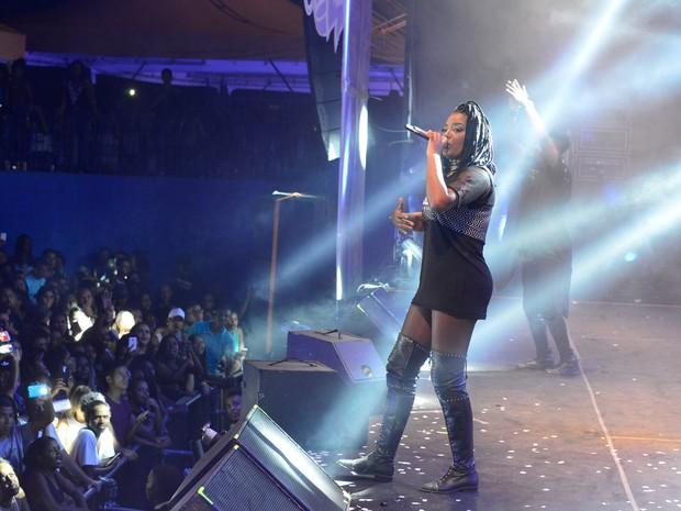 Ludmilla em show em Salvador, na Bahia (Foto: André Muzell/ Brazil News)