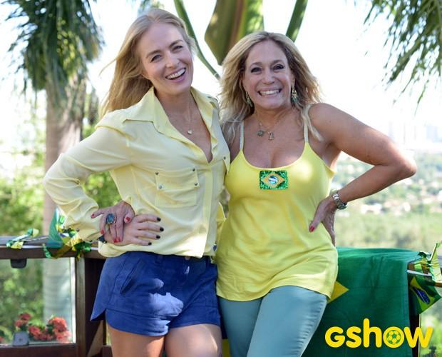Angélica e Susana mostram decoração para os jogos (Foto: TV Globo/Inácio Moraes)