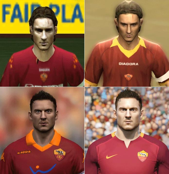 Totti mudou bastante seu visual desde 2004 (Foto: Reprodução/Thiago Barros)