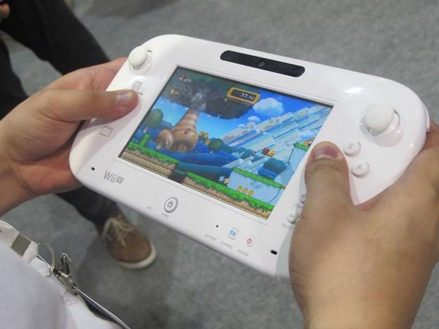 Detalhe do Gamepad, do Wii U (Foto: Gustavo Petró/G1)