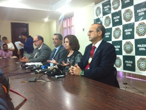 Martha Rocha conversou com jornalista na tarde desta quarta (Foto: Lívia Torres / G1)