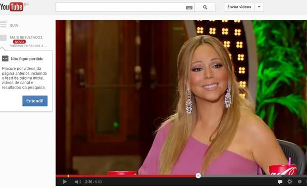 Mariah Carey assiste à apresentação de Matheus Fernandes no 'American Idol' exibido na quarta-feira (30) nos EUA (Foto: Reprodução / YouTube)