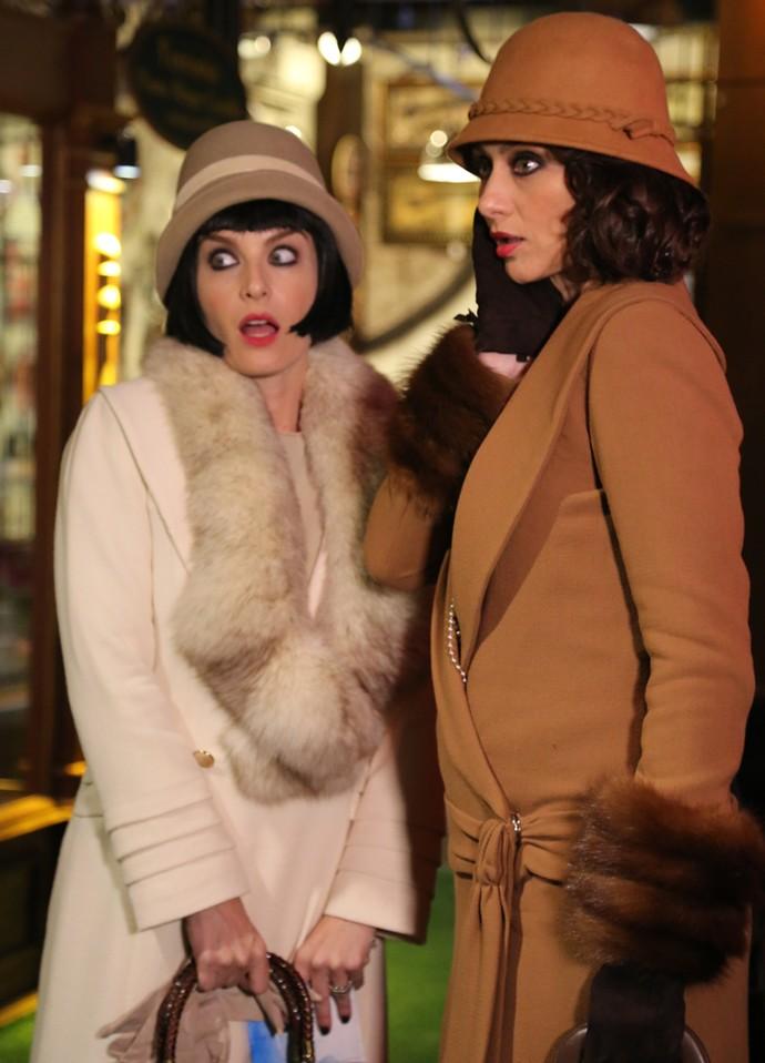 Angélica e Maria Fernanda Cândido voltam aos anos 20 (Foto: Thiago Fontolan/Gshow)
