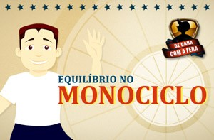 bom de equilbrio? Brinque no game do monociclo e faa o teste (Domingo do Fausto / TV Globo)