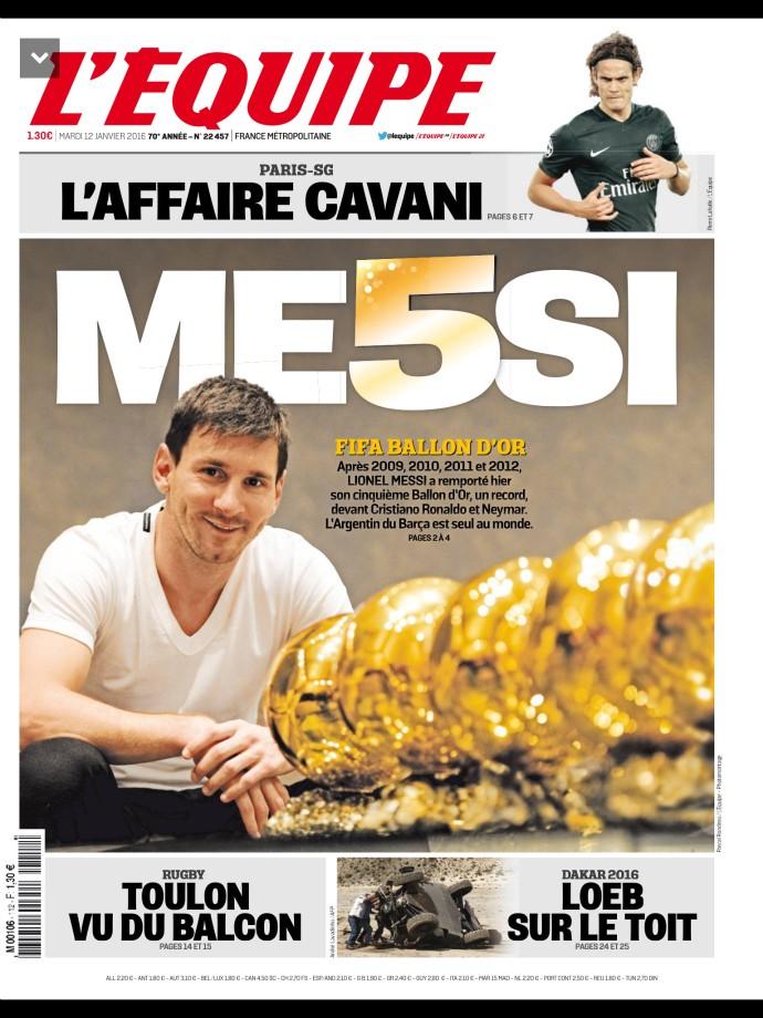 Capa L'Équipe Messi