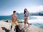 Giulia Costa e Daniel Blanco se inspiram no Rock in Rio para ensaio de moda