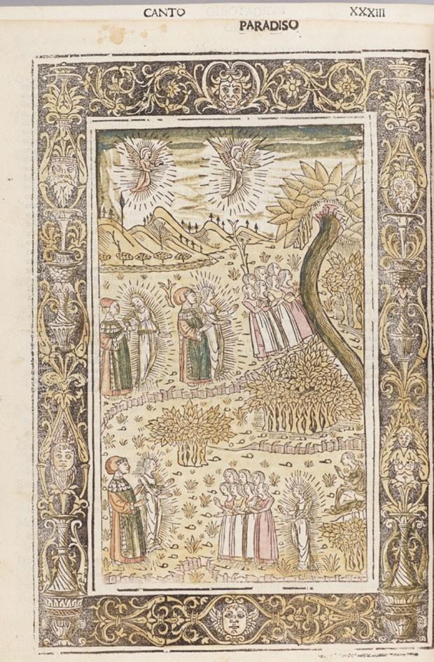 """Ilustração de """"La Commedia"""" (1487) (Foto: Reprodução)"""