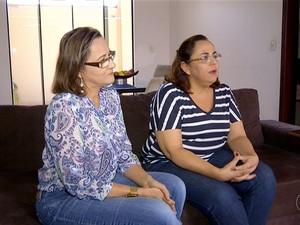 Sobrinhas de Wenceslau Leobas revelam ameaças (Foto: Reprodução/TV Anhanguera)