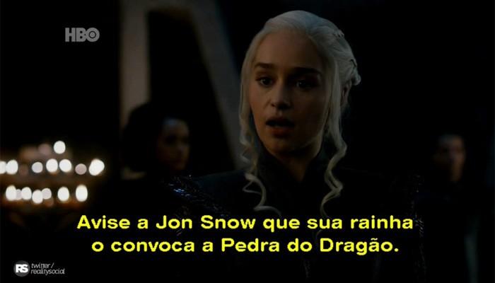 Daenerys e Jon Snow podem se encontrar no próximo episódio de Game of Thrones (Foto: Divulgação )