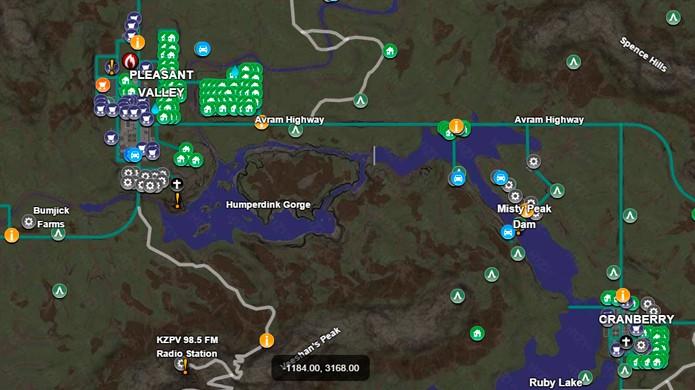 Use suas coordenadas para se localizar no mapa (Foto: H1Z1 DataBase)