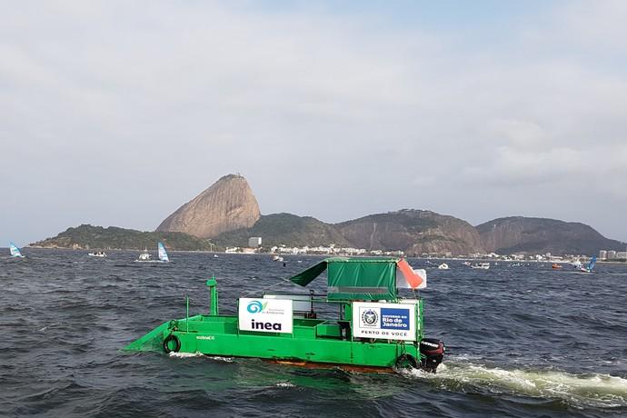 Ecobarco na Baía de Guanabara (Foto: Leonardo Filipo)