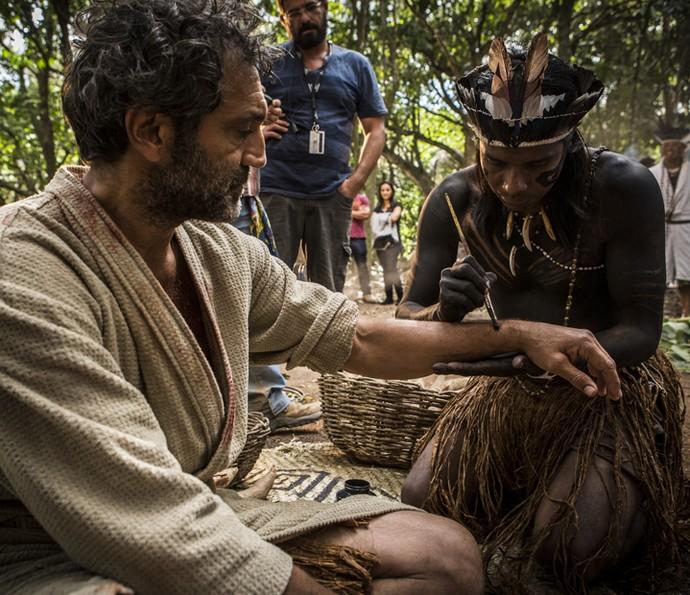 Domingos Montagner se prepara para gravar cenas importantes (Foto: Inácio Moraes/Gshow)