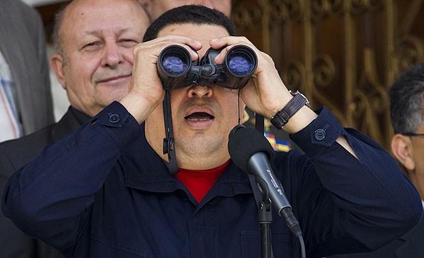 O presidente da Venezuela, Hugo Chávez, fez em 2 de junho sua primeira aparição pública desde abril (Foto: Carlos Garcia Rawlins/Reuters )