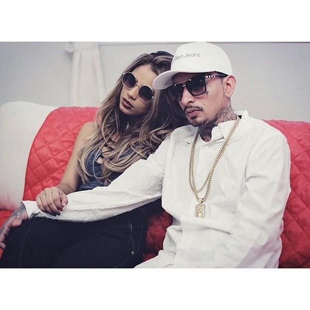 Lexa e MC Guimê nos bastidores de ensaio (Foto: Reprodução/Instagram)