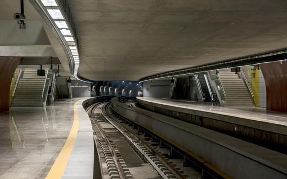 Estação de metrô que liga Ipanema a Barra  (Foto: Antonio Scorza/ Agencia o Globo)