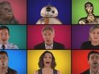 Elenco de 'Star Wars: O despertar da força' canta temas da saga 'à capela'