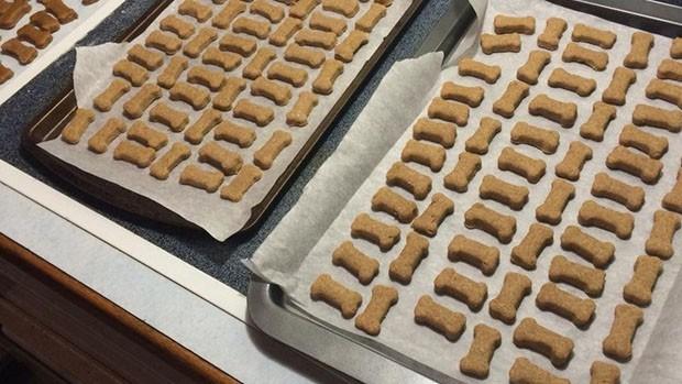 Receita de cookie para pets leva amendoim e banana (Foto: Divulgação)