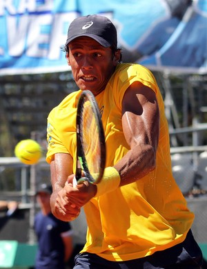copa davis Tênis Mayer x Feijão (Foto: Cristiano Andujar/CBT)