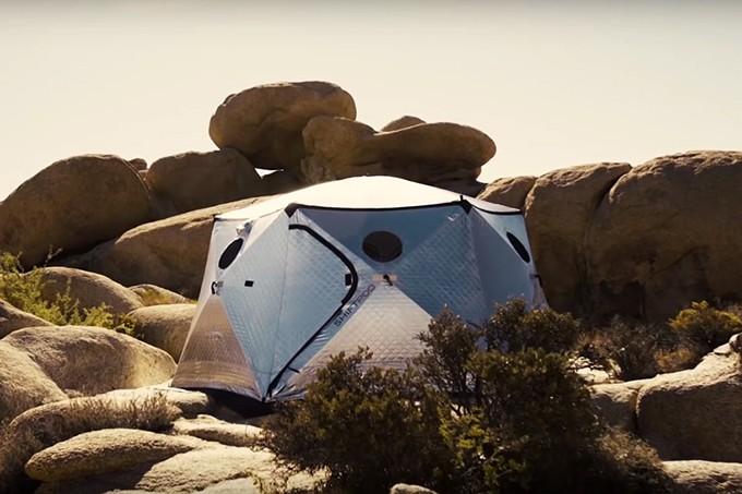 Cabana luxuosa para ser montada em segundos em zonas de desastres naturais (Foto: Divulgação)
