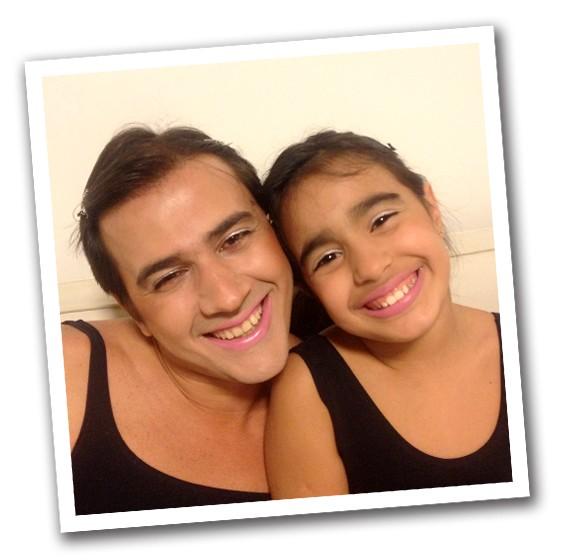 Vencedor: Armênio Bernardes P. Júnior e sua filha Maria Eduarda Pereira Bernardes (Foto: Arquivo Pessoal)