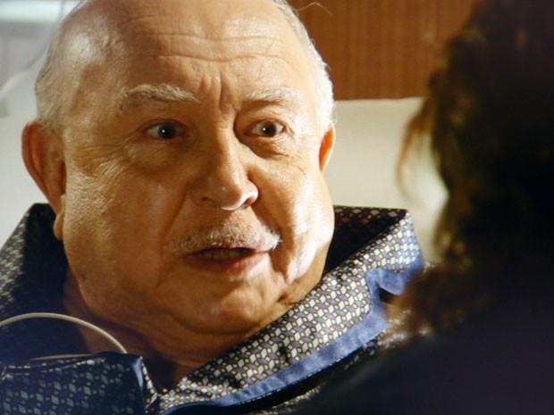 Dionísio quer tirar Samuel do caminho (Foto: Flor do Caribe / TV Globo)