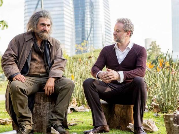 César Troncoso e Dan Stulbach em 'O vendedor de sonhos' (Foto: Divulgação)
