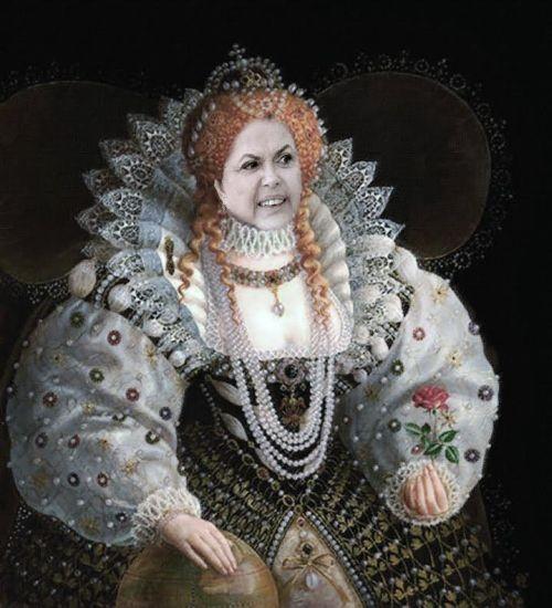 Resultado de imagem para dilmas rainha louca