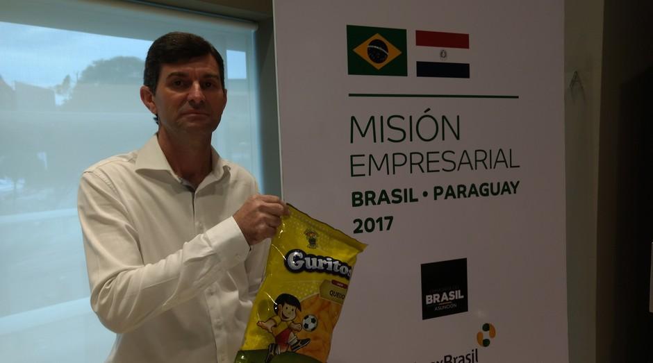Elias Voltatone, dono da fábrica de salgadinhos Guritos: foco no Paraguai para crescer (Foto: Fabiano Candido)