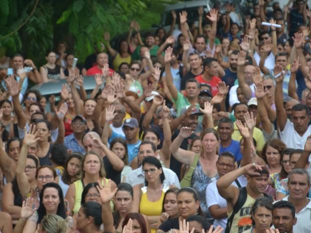 Servidores pedem 12% de reajuste (Foto: Divulgação / Sindicato dos Servidores de Peruíbe)