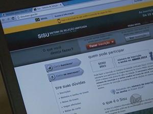 Inscrições para o Sisu podem ser feitas até as 23h59 de quinta-feira (22) (Foto: Reprodução/EPTV)