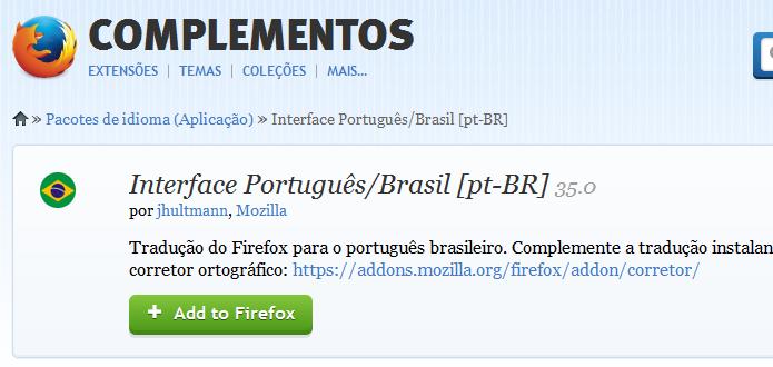 Clique sobre o botão para instalar o pacote de idiomas (Foto: Reprodução/Helito Bijora)