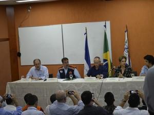 Dilma em reunião em Colatina, ES (Foto: Viviane Machado/ G1)