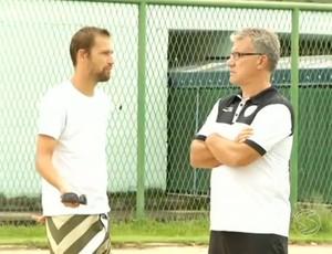 Alfredo Sampaio, em conversa com Marcel (Foto: Divulgação/TV Rio Sul)
