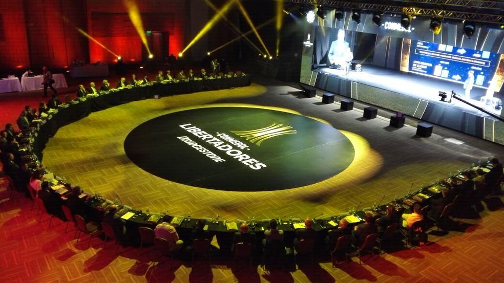 Reunião de Clubes na Conmebol (Foto: Conmebol) (Foto: )