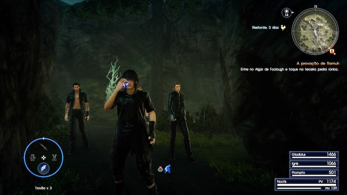 Final Fantasy XV: coloque a magia no espaço de uma arma (Foto: Reprodução/Victor Teixeira)