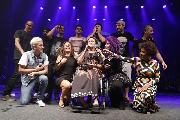 Lucinha Araujo sobe ao palco (Foto: Felipe Panfili/Divulgação)