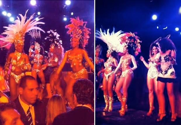 A bateria da Vai-Vai entrou na madrugada de sexta-feira (25.01) no palco da festa (Foto: Renata Garcia)