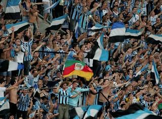 torcida Grêmio x Nacional de Medelin (Foto: Wesley Santos / Agência PressDigital)