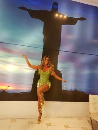 Nicole Bahls no camarote A festa (Foto: Divulgação/Divulgação)