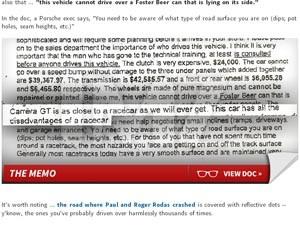 Em comunicado de 2004, Porsche alertou sobre velocidade de modelo de carro usado por Paul Walker (Foto: Reprodução/TMZ)