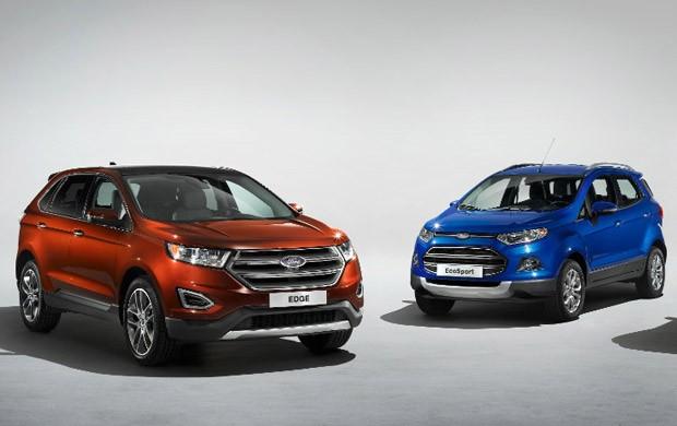 Ford Edge e EcoSport (Foto: Divulgação)
