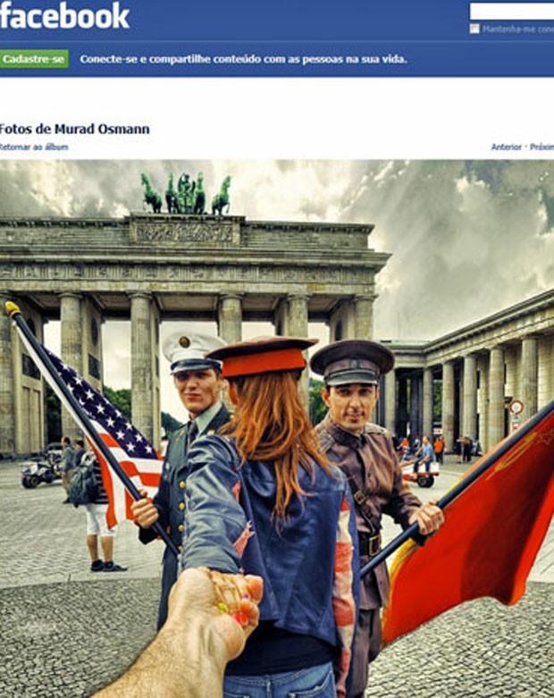 Foto de Murad Osmann para projeto Follow Me em Brandenburg Gate- vertical (Foto: Reprodução/Facebook)