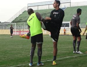 Treino Bragantino Rafael Caldeira (Foto: Arthur Costa/ Globoesporte.com)