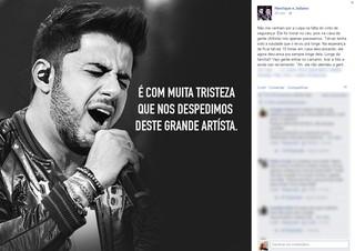Dupla Henrique e Juliano lamentam morte de Cristiano Araújo (Foto: Facebook / Reprodução)