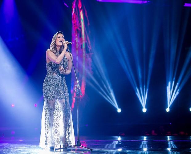 Claudinha cantou uma música composta especialmente para ela (Foto: Isabella Pinheiro/Gshow)