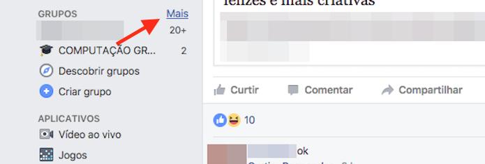 Acesso à página de gerenciamento de grupos do Facebook (Foto: Reprodução/Marvin Costa) (Foto: Acesso à página de gerenciamento de grupos do Facebook (Foto: Reprodução/Marvin Costa))