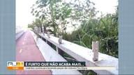 Moradores e ciclistas de São Conrado denunciam o furto de peças da ciclovia