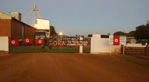 MST ocupa fazenda de ministro Blairo Maggi  (Foto: Divulgação MST Oficial/@MST_Oficial)