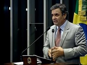Aécio Neves (Foto: Reprodução/TV Globo)